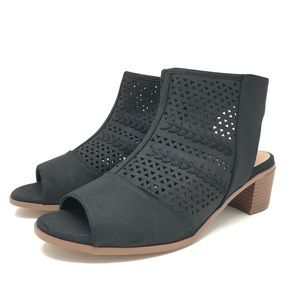 Torrid BLACK PERFORATED CUTOUT BOOTIE (WIDE WIDTH)